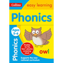 Phonics Ages 5-6: New Edition (Collins Easy Learning KS1) by Collins Easy Learning, 9780008134358