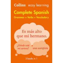 Easy Learning Spanish Complete Grammar, Verbs and Vocabulary (3 books in 1) by Collins Dictionaries, 9780008141738