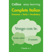 Easy Learning Italian Complete Grammar, Verbs and Vocabulary (3 books in 1) by Collins Dictionaries, 9780008141752