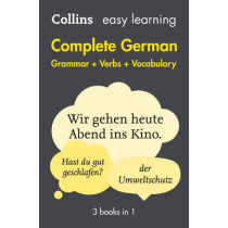 Easy Learning German Complete Grammar, Verbs and Vocabulary (3 books in 1) by Collins Dictionaries, 9780008141783