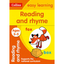 Reading and Rhyme Ages 3-5: New Edition (Collins Easy Learning Preschool) by Collins Easy Learning, 9780008151560