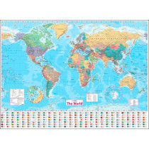 Collins World Wall Paper Map by Collins Maps, 9780008211585
