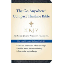 NRSV, The Go-Anywhere Compact Thinline Bible with the Apocrypha, Bonded Leather, Navy: The Ideal On-the-Go Portable Bible by Harper Bibles, 9780061827211