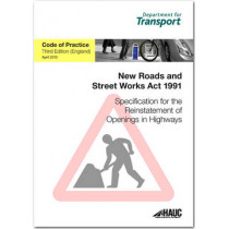 Specification for the reinstatement of openings in highways: code of practice for England by Great Britain: Department for Transport, 9780115531415
