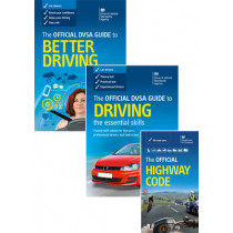 The official DVSA guide to better driving; the Official DVSA guide to driving - the essential skills; and the Official highway code 2015 edition - pack by Driver and Vehicle Standards Agency (DVSA), 9780115534324