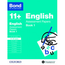 Bond 11+: English: Assessment Papers: 11+-12+ years Book 1 by Sarah Lindsay, 9780192740076