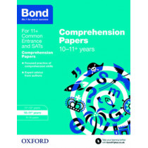 Bond 11+: English: Comprehension Papers: 10-11+ years by Michellejoy Hughes, 9780192742346