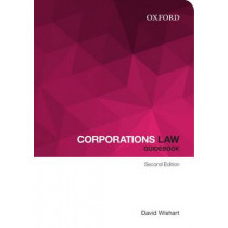 Corporations Law Guidebook by David A. Wishart, 9780195594010