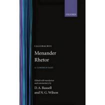 Menander Rhetor by Menander Rhetor, 9780198140139