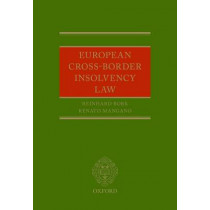 European Cross-Border Insolvency Law by Reinhard Bork, 9780198729099