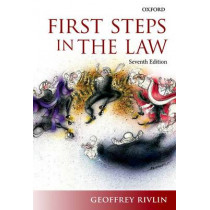 First Steps in the Law by Geoffrey Rivlin, 9780198735892