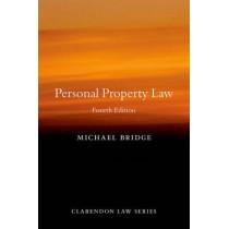 Personal Property Law by Professor Michael Bridge, 9780198743088