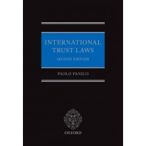 International Trust Laws by Paolo Panico, 9780198754220