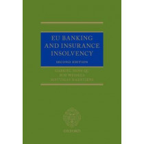 EU Banking and Insurance Insolvency by Bob Wessels, 9780198759393