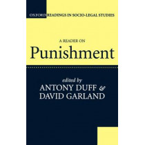 A Reader on Punishment by R. A. Duff, 9780198763536