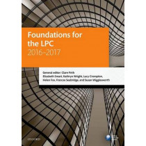 Foundations for the LPC 2016-2017 by Clare Firth, 9780198765943