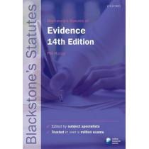 Blackstone's Statutes on Evidence by Phil Huxley, 9780198768340