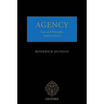 Agency: Law and Principles by Roderick Munday, 9780198784685