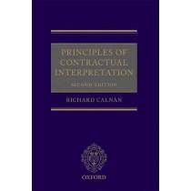 Principles of Contractual Interpretation by Richard Calnan, 9780198792314