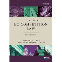 Goyder's EC Competition Law by Joanna Goyder, 9780199232307