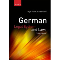 German Legal System and Laws by Nigel Foster, 9780199233434
