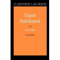 Unjust Enrichment by Peter Birks, 9780199276981