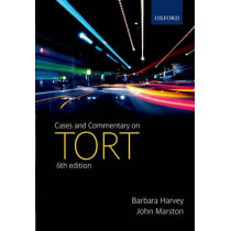 Cases and Commentary on Tort by Barbara Harvey, 9780199296125