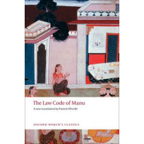 The Law Code of Manu by Patrick Olivelle, 9780199555338
