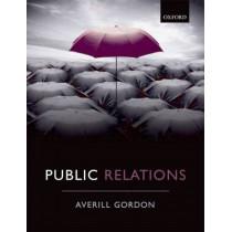 Public Relations by Averill Elizabeth Gordon, 9780199565740