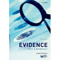 Evidence: Text & Materials by Gregory Durston, 9780199583607