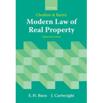 Cheshire and Burn's Modern Law of Real Property by Edward Burn, 9780199593408