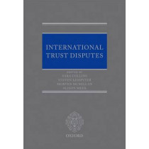 International Trust Disputes by Sara Collins, 9780199594702