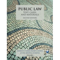 Public Law: Text, Cases, and Materials by Andrew Le Sueur, 9780199644186