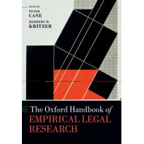 The Oxford Handbook of Empirical Legal Research by Peter Cane, 9780199659944