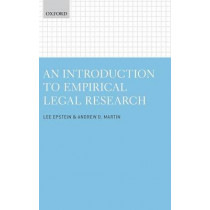 An Introduction to Empirical Legal Research by Lee Epstein, 9780199669059