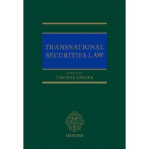 Transnational Securities Law by Thomas Keijser, 9780199677863