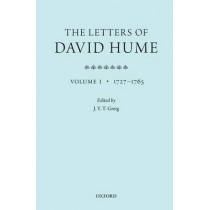 The Letters of David Hume: Volume 1 by J. Y. T. Greig, 9780199693245