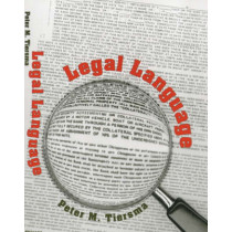 Legal Language by Peter M. Tiersma, 9780226803036
