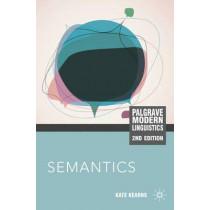 Semantics by Kate Kearns, 9780230232303