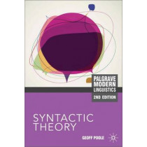 Syntactic Theory by Geoffrey Poole, 9780230243934