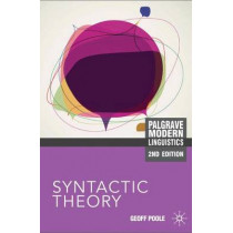Syntactic Theory by Geoffrey Poole, 9780230243941