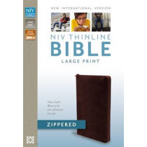 NIV, Thinline Zippered Collection Bible, Large Print, Bonded Leather, Burgundy, Red Letter Edition by Zondervan Publishing, 9780310421368