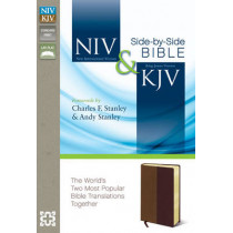 NIV, KJV, Side-by-Side Bible, Leathersoft, Tan/Burgundy: God's Unchanging Word Across the Centuries by Zondervan, 9780310436881