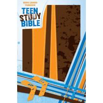 KJV, Teen Study Bible, Leathersoft, Brown/Orange by Zondervan Publishing, 9780310720164