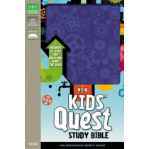 NIrV, Kids' Quest Study Bible, Leathersoft, Purple: Answers to over 500 Questions about the Bible, 9780310744825