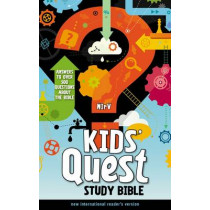 NIrV, Kids' Quest Study Bible, Hardcover: Answers to over 500 Questions about the Bible, 9780310744856