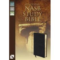 NASB, Zondervan NASB Study Bible, Bonded Leather, Burgundy, Red Letter Edition by Kenneth L. Barker, 9780310910947