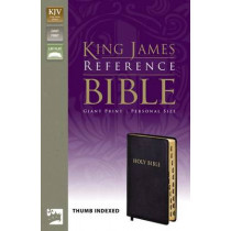 KJV, Reference Bible, Giant Print, Personal Size, Bonded Leather, Black, Indexed, Red Letter Edition by Zondervan, 9780310922025