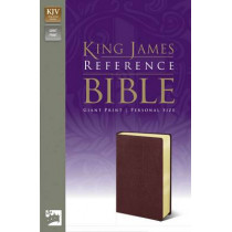 KJV, Reference Bible, Giant Print, Imitation Leather, Burgundy, Red Letter Edition by Zondervan, 9780310931928