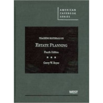 Teaching Materials on Estate Planning by Gerry Beyer, 9780314195913